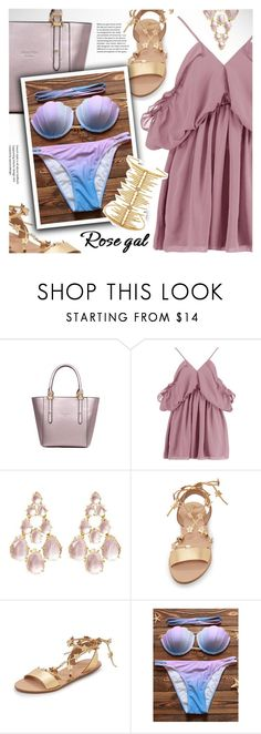 """""""Rosegal ombre bikini set"""" by vn1ta ❤ liked on Polyvore featuring Boohoo, Loeffler Randall and Joanna Laura Constantine"""