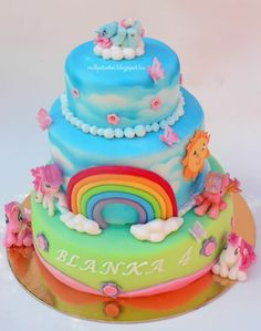 My little pony cake  - Marzipan and gumpaste my little pony