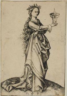 The Third Wise Virgin by Martin Schongauer, c. 1480s; Colmar