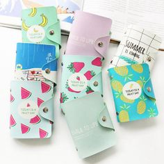 Cute 24 Bits Card ID Holders Case PU Leather Function Business Card Holder Women Credit Passport Card Bag Passport Card Wallet Name:credit card holder Color: Passport + Opp bag Size: * Weight: Packing:Opp Bag + credit card holder Cheap Business Cards, Business Credit Cards, Business Card Holders, Passport Card, Cute Fruit, Fruit Pattern, Ootd, Card Patterns, Id Holder