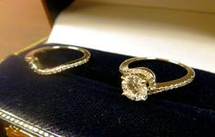 Halo Twist Diamond Bridal Set Ring & Band Palladium (0.28ct)-Allurez.com