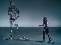 """Like a Warrior""   Model: Mariacarla Boscono, Photographer: Tim Walker, Vogue Italia, March 2014"
