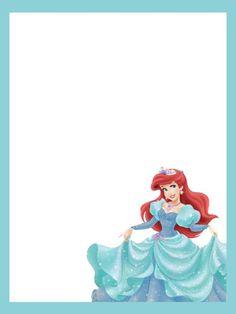 3x4 Princess Ariel journal card no lines photo 3x4arielwithbluetrimnolines.jpg