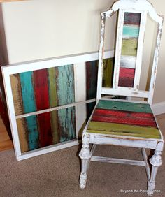 These Are a Few of My Favorite Things 2013--Colorful reclaimed wood projects http://bec4-beyondthepicketfence.blogspot.com/2013/12/these-are-few-of-my-favorite-things-2013.html