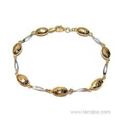 Pulsera Oro amarillo y blanco de #joyería Larrabe #Moda #mujer #complementos
