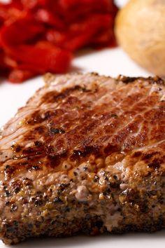 Cowboy Steak with Coffee and Chili Rub #Recipe