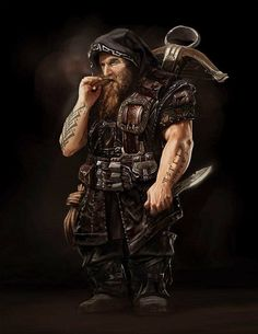 Male Dwarf Archer Crossbow Dagger Leather Armor Assassin Cleric Fighter Ranger Rogue - Pathfinder PFRPG DND D&D fantasy Fantasy Dwarf, Fantasy Male, Fantasy Warrior, Fantasy Rpg, Medieval Fantasy, Fantasy Artwork, Dark Warrior, Dungeons And Dragons Characters, Dnd Characters