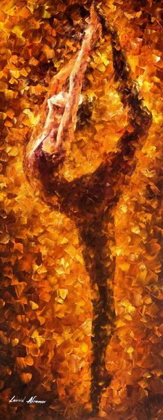 Dancing Twist — PALETTE KNIFE Figure Modern Wall Art Textured Oil Painting On…