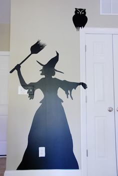 DIY Halloween Contact Paper Silhouettes  Great Halloween Decorations - easy and inexpensive to make