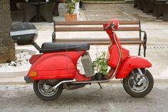 old Red Vespa