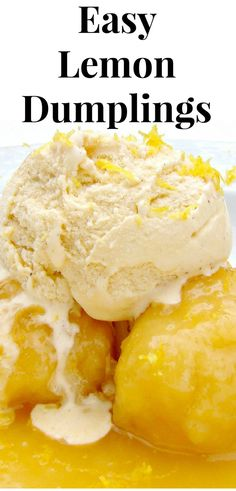 Easy Lemon Dumplings This is delicious! Quick and easy and great served warm with a blob of ice cream or whipped cream Easy Lemon Dumplings This is delicious! Quick and easy and great served warm with a blob of ice cream or whipped cream Tolle Desserts, Köstliche Desserts, Lemon Desserts, Great Desserts, Lemon Recipes, Fudge Recipes, Gourmet Recipes, Sweet Recipes, Delicious Desserts