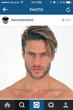 Mens hairstyle short sides long top
