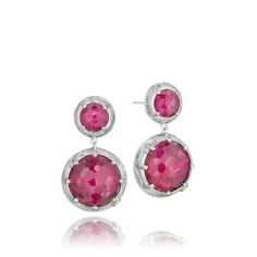 She'll love these Red Crystal drop earrings by Tacori.