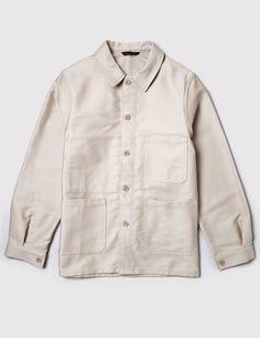 BNWT Le Laboureur `Bleu de Travail` French Work Chore Jacket Ecru Size 3 L/XL