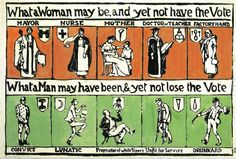 England political toon, not sure of the date. *British women earned complete equal voting rights in 1928.*