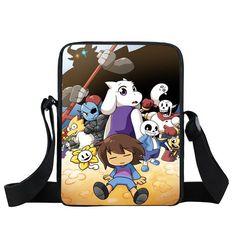 d65653589353 Undertale Mini Messenger Bag Sans Papyrus Kids School Bags Boys Girls  Crossbody Bags Children Bookbag Best Gift Shoulder Bag