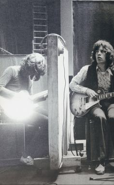 Mick Taylor and Mick Jagger - Let It Bleed sessions 1969