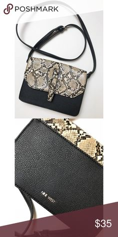 ea09ad2ad207 Nine West • Crossbody Bag NWOT Nine West • Crossbody Bag NWOT Black with  snake print