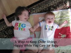 #Ad: 5 Ways to Keep Older Siblings Happy While You Care for Baby #PlayAndGrow