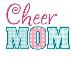 Cheer Mom Applique Machine Embroidery Design INSTANT DOWNLOAD Professionally Digitized - Super Cute! ---Buy 3 get 1 design FREE!---