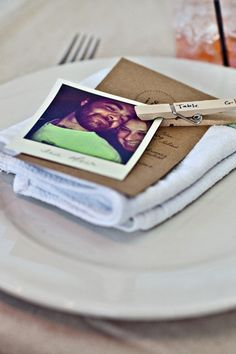 Set of 25 Bespoke Polaroid-Style Paper Escort or Seating Cards for Your Indie Wedding or Party by Becomingmrsford. Pretty genius.