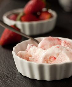Cool off this summer with a bowl of Strawberry Swirl Frozen Yogurt.