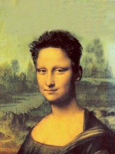 mona lisa pictures and jokes / funny pictures & best jokes: comics, images, video, humor, gif animation - i lol'd Mona Lisa Funny, Mona Lisa Parody, Mona Lisa Smile, Photomontage, Lisa Gherardini, Lesbian Hair, Graphisches Design, Graphic Design, K Wallpaper