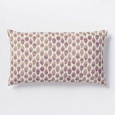 Stamped Mini Dot Pillow Cover - Dark Iris #westelm