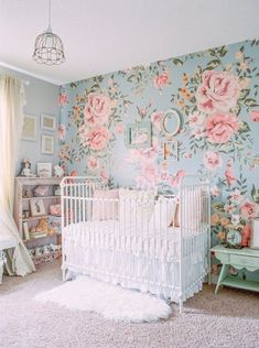 Shabby chic floral feminine nursery | Girl's nursery ideas | 100 Layer Cakelet