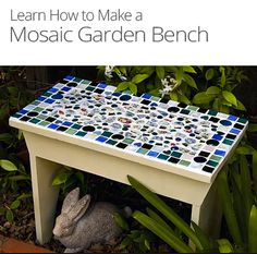 How to Mosaic a Garden Bench