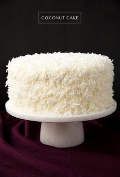 Coconut Cake - this is one of the best cakes I've ever made! So soft and tender and perfectly moist. Love the coconut cream cheese frosting too. Cupcake Recipes, Cupcake Cakes, Cupcakes, Dessert Recipes, Best Coconut Cake Recipe Ever, Coconut Recipes, Coconut Cakes, Just Desserts, Delicious Desserts