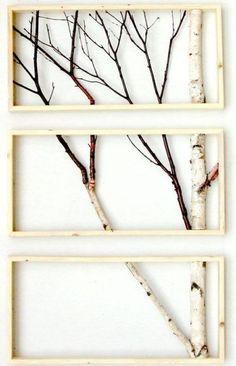 Decoración con troncos de madera 10