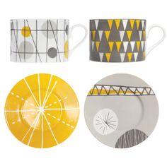 Festival Porcelain Tea Cups Set