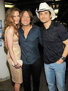 Nicole, Keith & Brad Paisley