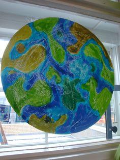 een eigen wereld met ecoline en wasco, groep 5 My Little Girl, Primary School, 1, Water, Universe, Blue Prints, Middle, Planets, Kids