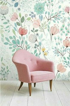 soft pastels, floral wallpaper pattern
