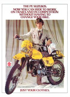Great vintage Suzuki ad.
