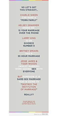 Gay marriage  ... Click this image to browse lots more awesome #quotes  #Funny pics! :)