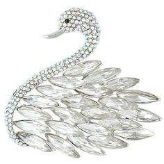 Ever Faith Austrian Crystal Party Swan Clear Feather Brooch Pendant - Clear-Silver-Tone N04470-4 Ever Faith http://www.amazon.co.uk/dp/B00PIM2N2S/ref=cm_sw_r_pi_dp_-NeUvb1WXN4P2