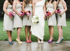 9 Mix 'n' Match Bridesmaid Looks - Project Wedding