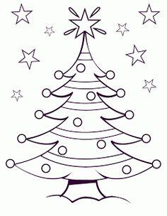Desenhos e riscos de rvores de natal para colorir Christmas