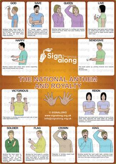 National Anthem Poster, J) Posters, Signalong Store