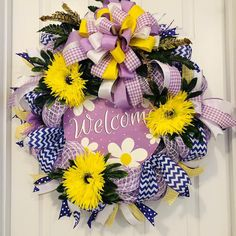 I'm offering a discount! Wreaths For Front Door, Door Wreaths, Deco Mesh Wreaths, Fun Crafts, Create Yourself, Floral Wreath, Etsy Seller, Spring, Awesome