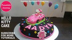Hello kitty theme Chocolate cake decoration design ideas for boy girl kids birthday Happy Birthday Mom Cake, Pig Birthday Cakes, Custom Birthday Cakes, Birthday Cake Girls, 4th Birthday, Simple Birthday Cake Designs, Cake Designs For Girl, Cake Decorating Classes, Birthday Cake Decorating