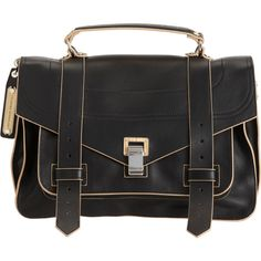 Proenza Schouler PS1 Medium Double-Sided Leather ($2,215) ❤ liked on Polyvore featuring bags, handbags, shoulder bags, purses, bolsas, accessories, leather shoulder handbags, man bag, leather hand bags and leather satchel