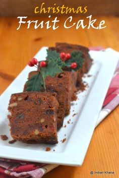 Christmas Baking Recipes, Christmas Cake Recipes, Christmas Fruit Cake Recipe, E. Eggless Recipes, Eggless Baking, Baking Recipes, Cake Recipes, Snacks Recipes, Fruit Recipes, Vegan Xmas Cake, Vegan Cake, Christmas Plum Cake Recipe
