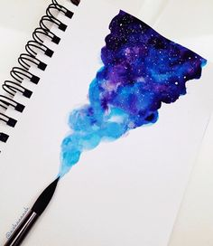 Progress… Still something more to add, can you guess? Progress… Still something more to add, can you guess? Watercolor Galaxy Tattoo, Galaxy Painting, Galaxy Art, Watercolor Paintings, Watercolour Drawings, Watercolours, How To Draw Galaxy, Art Sketches, Art Drawings
