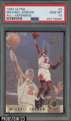 9ca9b3691b62f9 Ultra All-Defense Michael Jordan Insert PSA 10 Graded Card All-Defensive