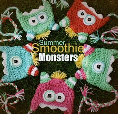 monster hats-aren't they cute?
