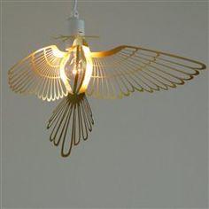 Cache-lampe oiseau en metal par Hommin THE COLLECTION